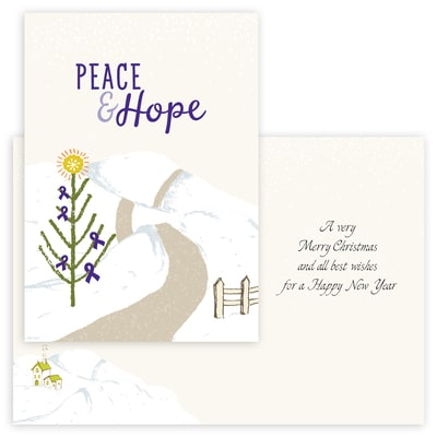 Peace and Hope - Purple Ribbon