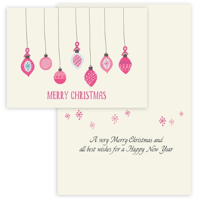 Pink Ribbon Ornaments