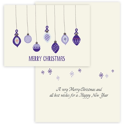 Purple Ribbon Ornaments