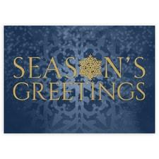 Season's Greetings Gold Snowflake