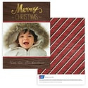 Wooden Christmas Photo Card