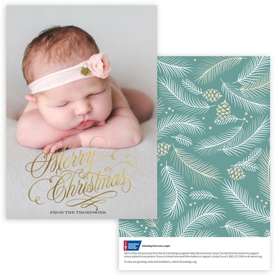Cheerful Christmas Photo Card