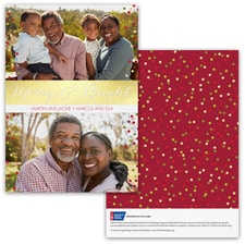 Dotted Holidays Photo Card