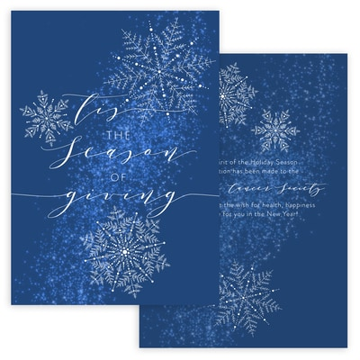 Snowflake Donation Card