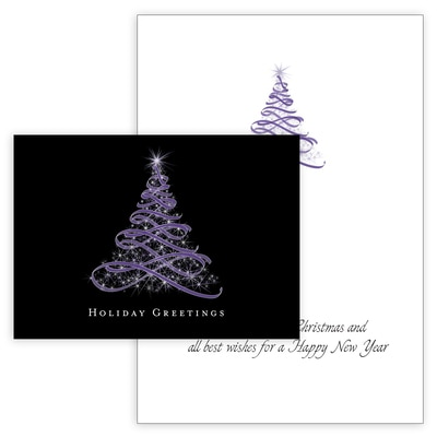 Starry Ribbon Tree in Purple