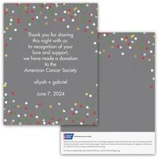 Confetti Fun Donation Card