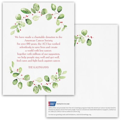 Watercolor Sentiments Donation Card