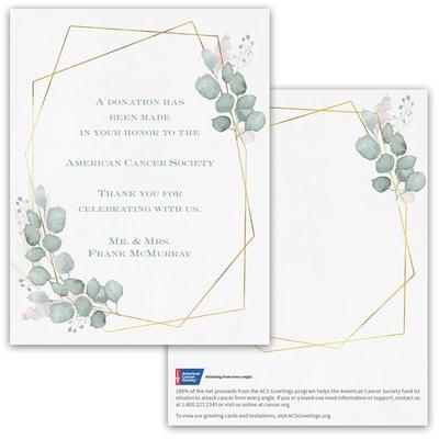 Geo Frame Donation Card