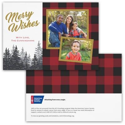 Plaid Wishes Photo Card