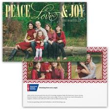 Joy and Love Photo Card