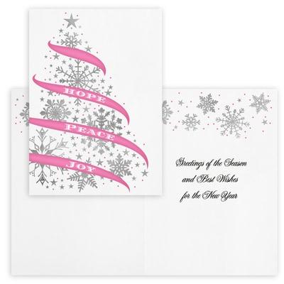 Snowflake Tree - Pink Ribbon