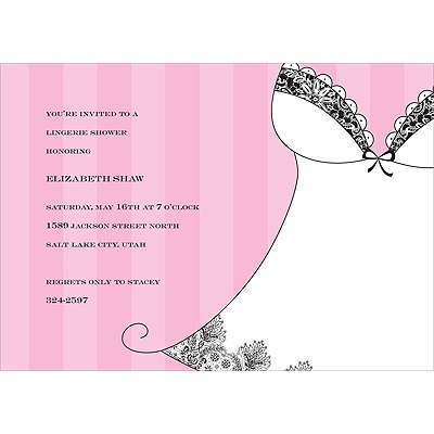 Lingerie - Bridal Shower Invitation