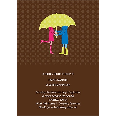 Love Rains Down - Bridal Shower Invitation