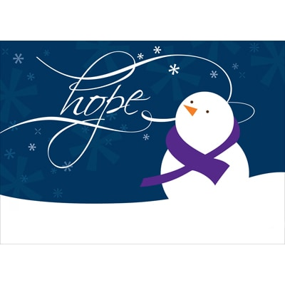 Message of Hope - Purple Ribbon