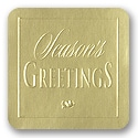 Gold Season's Greetings Seal
