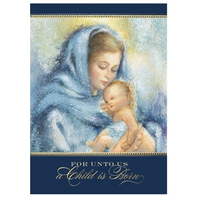 Madonna and Child in Soft Blues