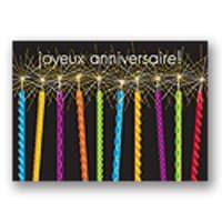 Joyeux anniversaire bougies