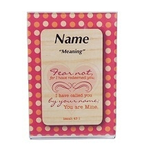 DreamName Woods Acrylic Magnet Frame