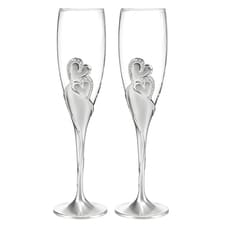 Blank Sparkling Hearts Flutes