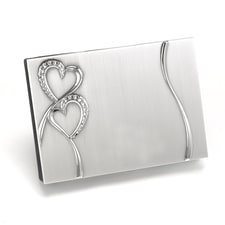 Blank Sparkling Hearts Guest Book