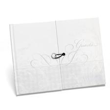 Blank Flourish Gem Guest Book