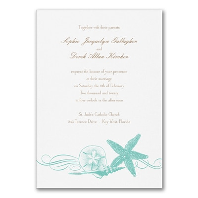Seashore Finds - Lagoon - Invitation