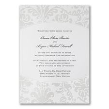 Pearlized Filigree - Invitation