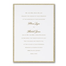 Gold Border Elegance - Invitation