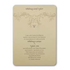 Baroque Elements - Invitation
