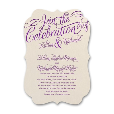 Dreamy Declaration - Foil and Shimmer Invitation
