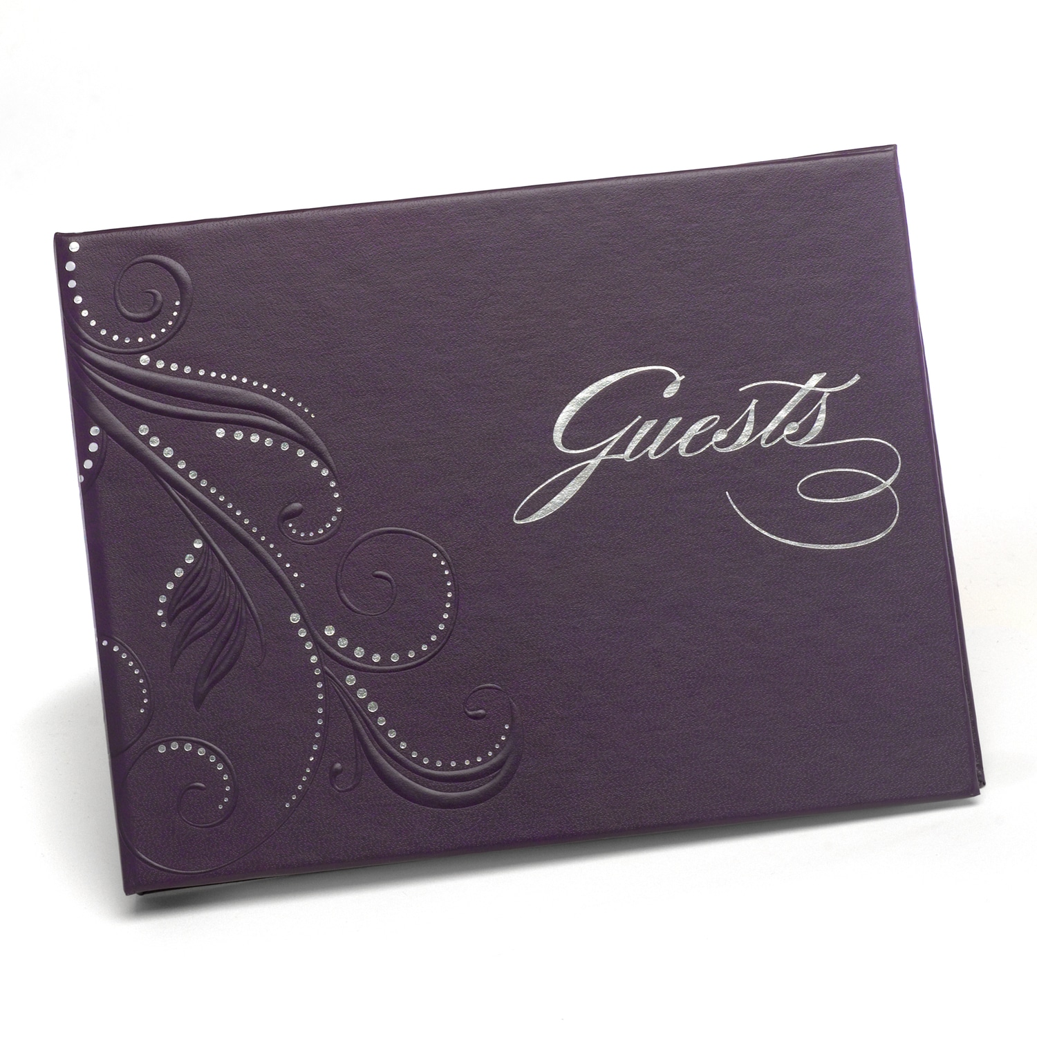 Swirl Dots Guest Book - Purple