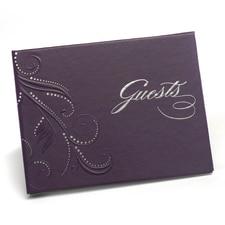 Swirl Dots Guest Book - Purple
