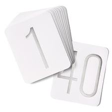 Silver Table Number Cards