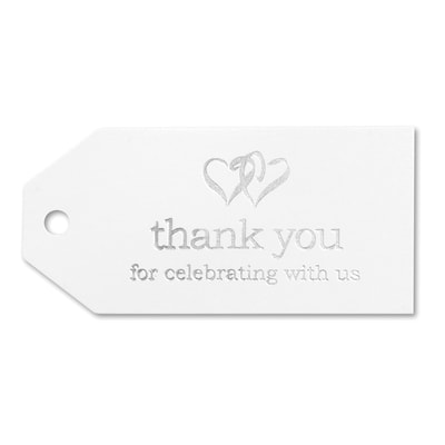 Linked at the Heart Favor Cards - White