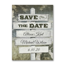 Rustic Sign Post - Save the Date