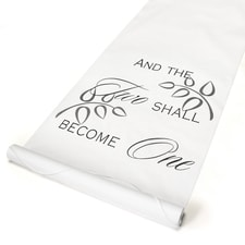 Two Shall Become One Aisle Runner - White