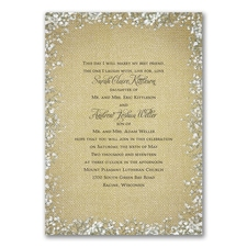 Burlap Blossoms - Invitation