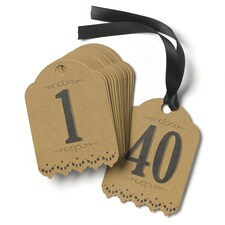 Vintage - Table Number Tags - Kraft