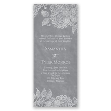 Lovely Antique Lace Invitation