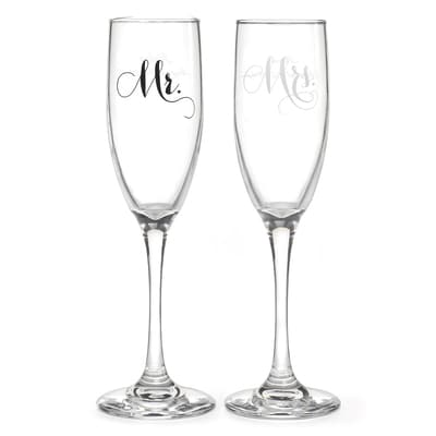 Elegant Mr. and Mrs. Flutes