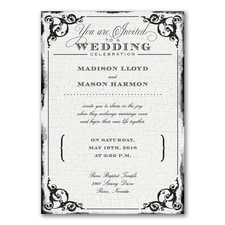 Antique Filigree Frame - Invitation