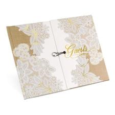 Rustic Lace Gatefold Guest Book