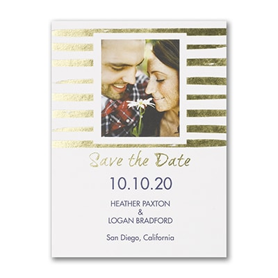 Shimmering Stripes - Save the Date