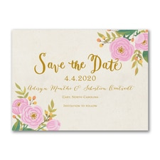 Fanciful Floral - Photo Save The Date