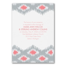 Modern Ikat - Invitation