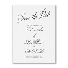 Delightful Date - Save the Date - White