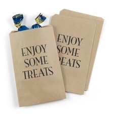 Enjoy Some Treats Treat Bags - Kraft - Design Only