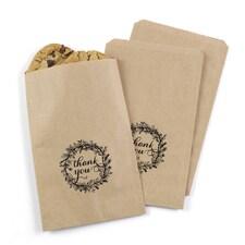Rustic Wreath Treat Bags - Kraft - Design Only