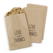 Love & Thanks Treat Bags - Kraft - Design Only
