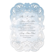 Watercolor Lace Invitation